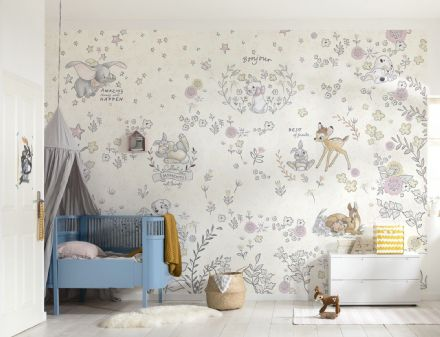 Nursery wallpaper Bambi Dalmatians and more Disney